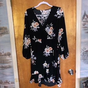 Xhilaration Floral Long Sleeve Dress